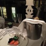 Wedding Anniversary champagne from the Hamyard Hteo -